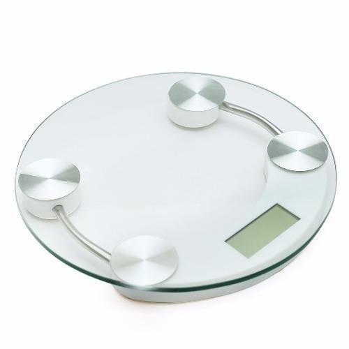 Cân sức khỏe điện tử 33 cm (kính trong suốt) kính cường lực tròn – trắng