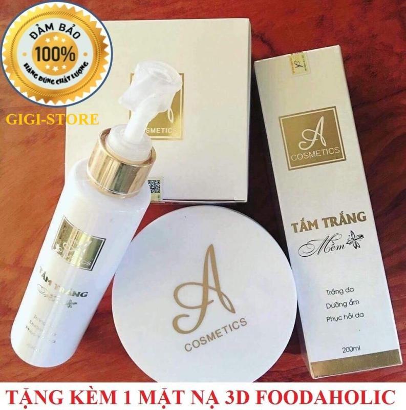 Combo tắm trắng và kem body mềm A Cosmetics nhập khẩu
