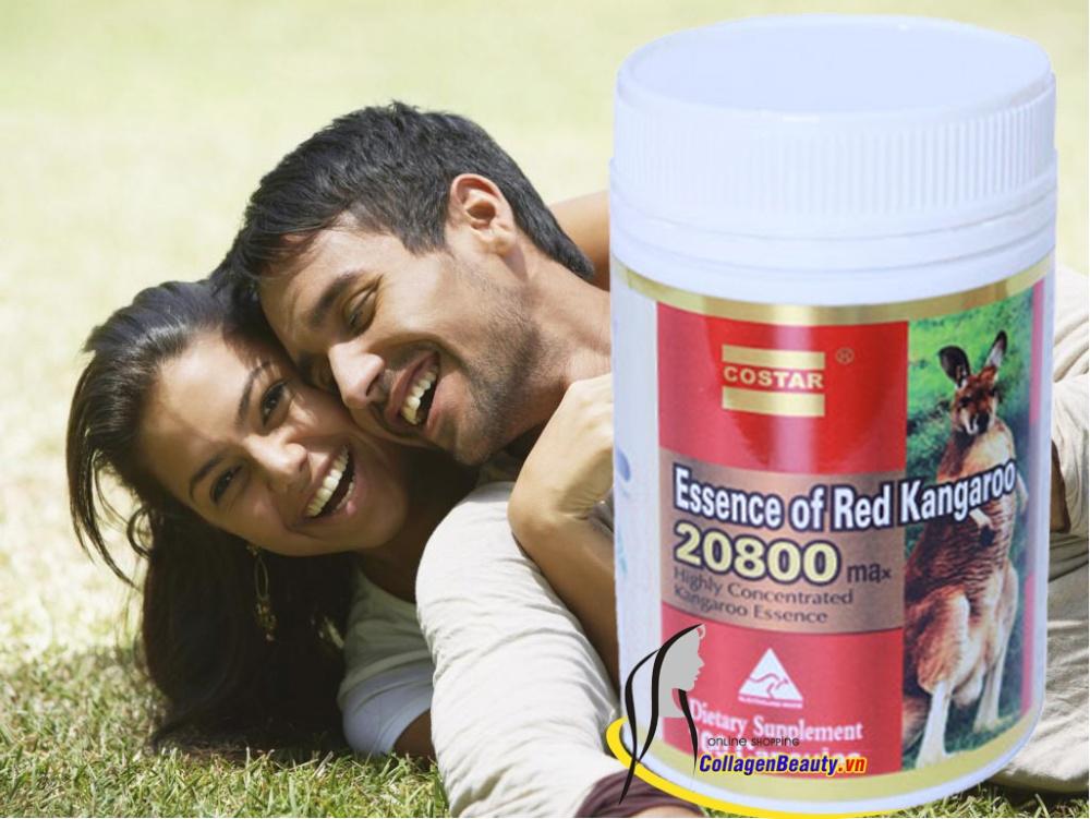 Image result for Viên uống tăng cường sinh lý Essence of Red Kangaroo 20800 Max