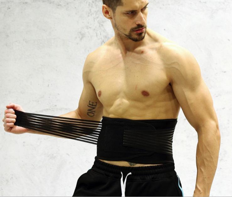Đai quấn lưng bụng tập gym bảo vệ cốt Sống ( đen)