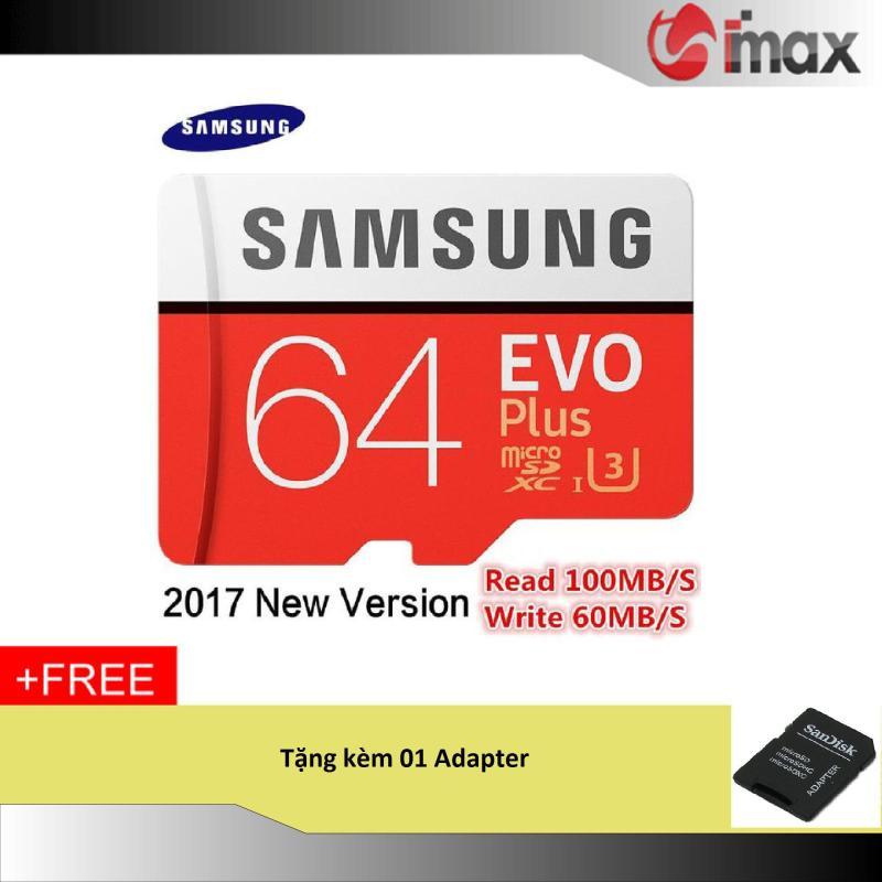 Thẻ nhớ 64GB Samsung Evo Plus New (100 Mb/s) + Adapter
