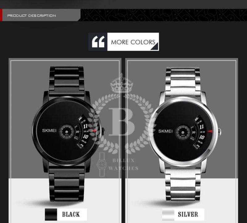 Đồng hồ Nam SKMEI 1260 [Billux] dây kim loại - 39mm (Đen - Trắng) [SKMMT006]