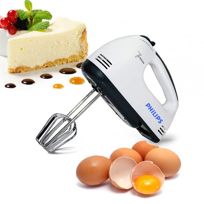 máy đánh trứng 7 tốc độ, máy làm bánh philips, máy nhào bột 7 mức độ