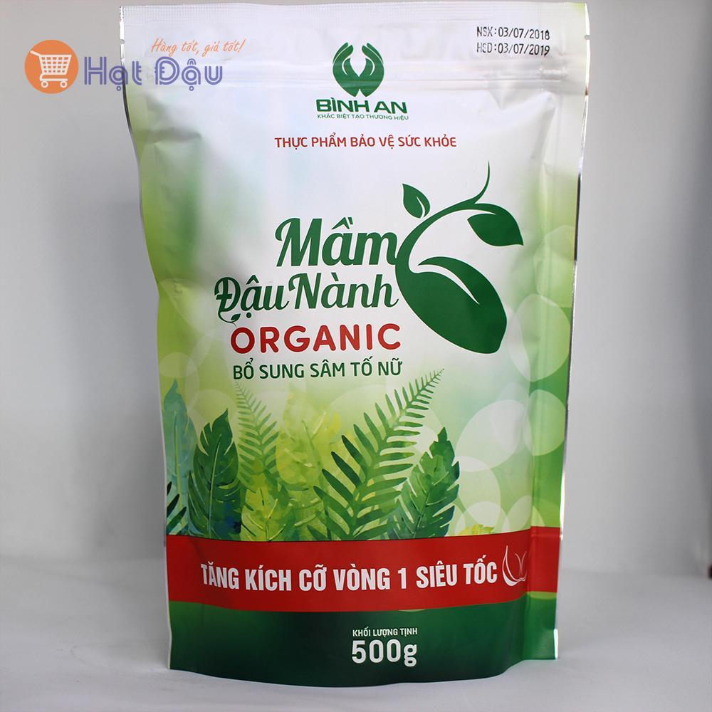 Mầm đậu nành organic Linh Spa - Sâm tố nữ tăng vòng 1 siêu tốc