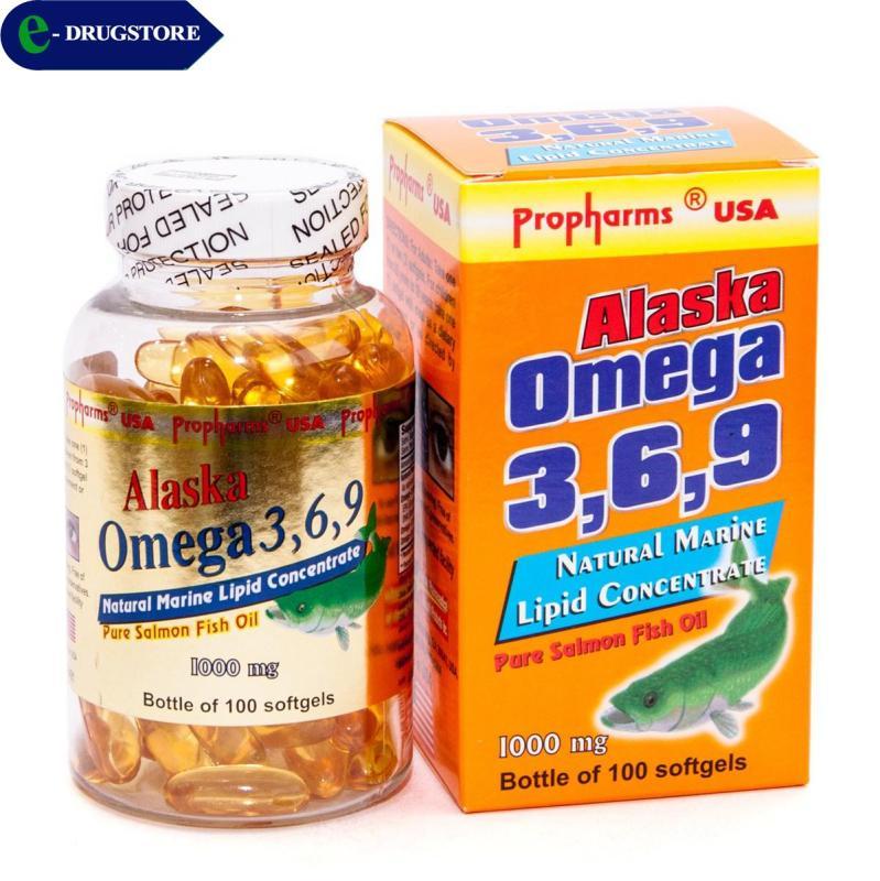Omega 3,6,9 Alaska Propharms USA. Lọ 100 viên nang mềm nhập khẩu