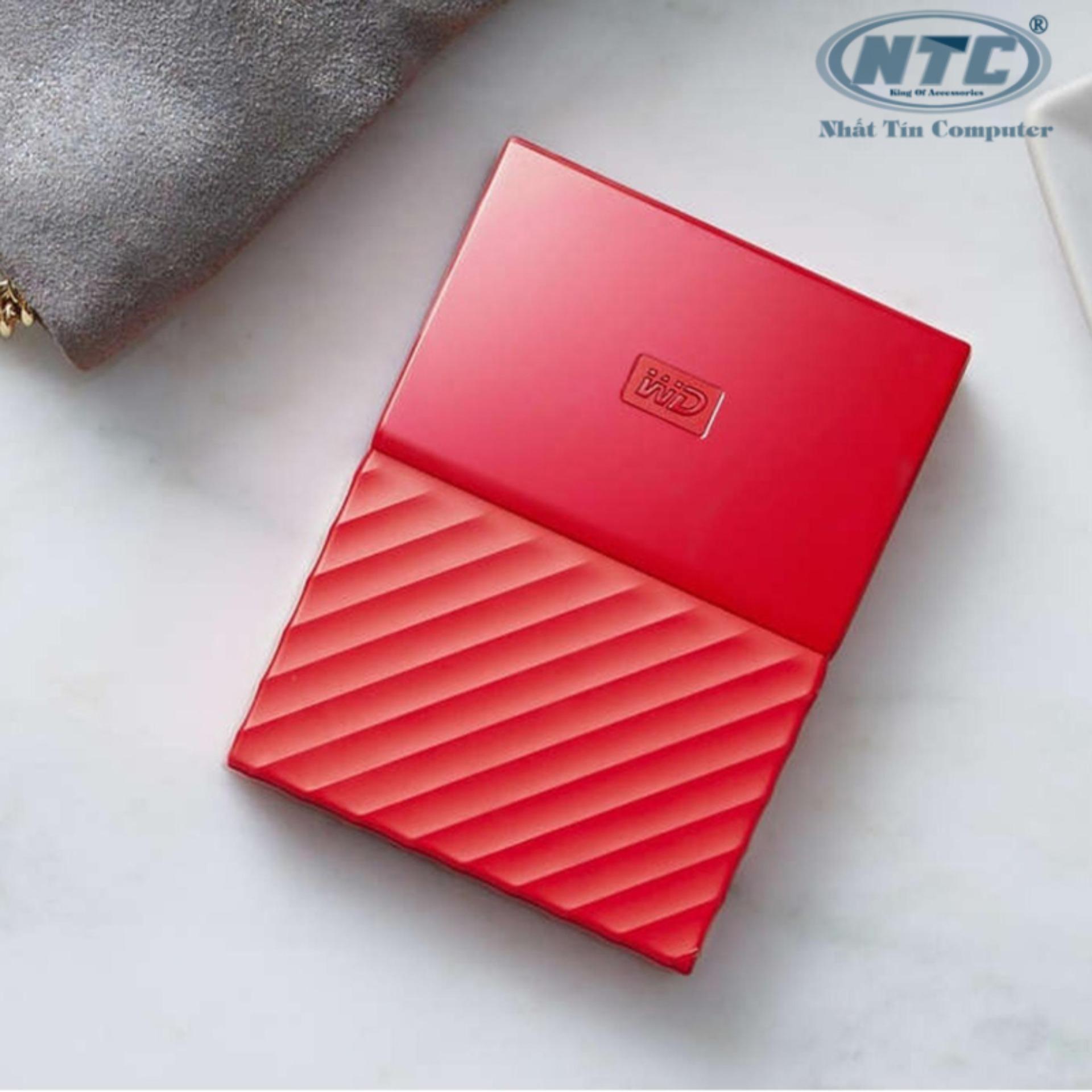 Hình ảnh Ổ cứng di động HDD Western Digital My Passport 2TB - Model 2017 (Đỏ)