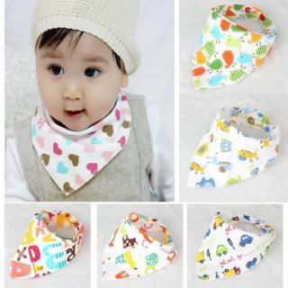 Bộ 5 khăn yếm tam giác 2 lớp mềm mịn cho bé thumbnail