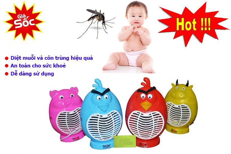 Máy Diệt Muỗi, Đèn bắt muỗi hình thú - mã 01 , Máy Bắt Muỗi và Côn Trùng Hiệu Quả, Thông Minh. Giá Hấp Dẫn (-50%).