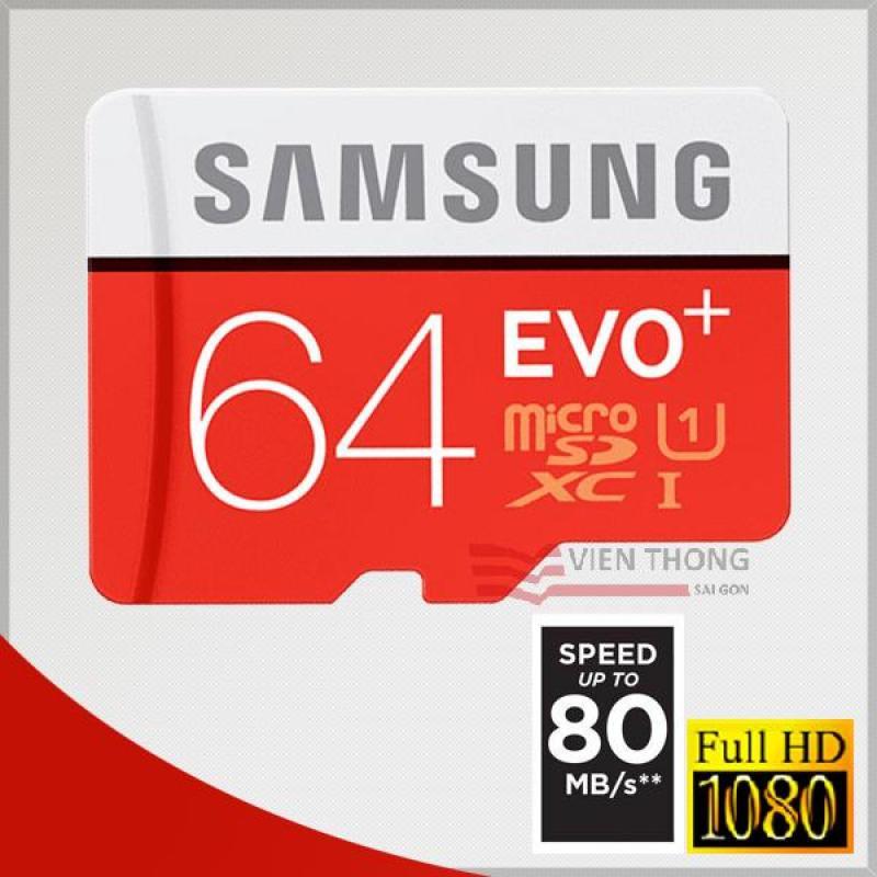Thẻ nhớ 64GB UHS1 U1 MicroSDXC Samsung EVO + tốc độ cao (đỏ )