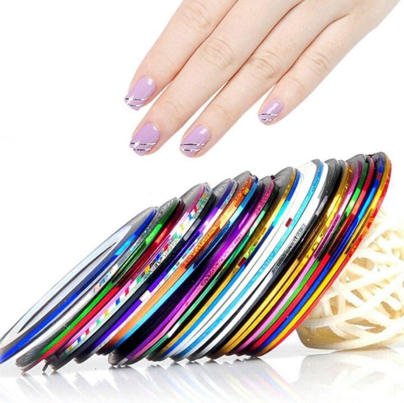 Bịch 30 băng dính đa màu tạo kiểu trang trí móng