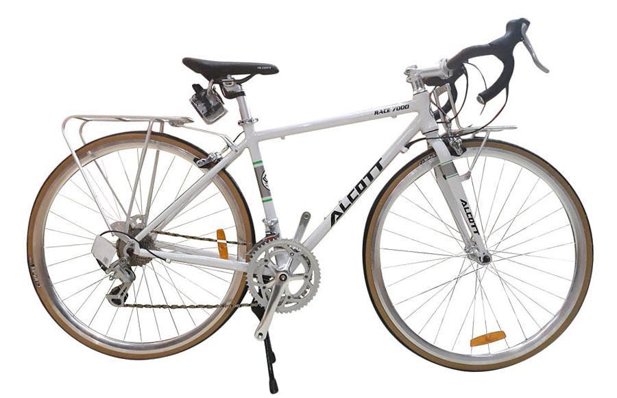 Xe đạp cuộc Alcott Race 7000 Classic White