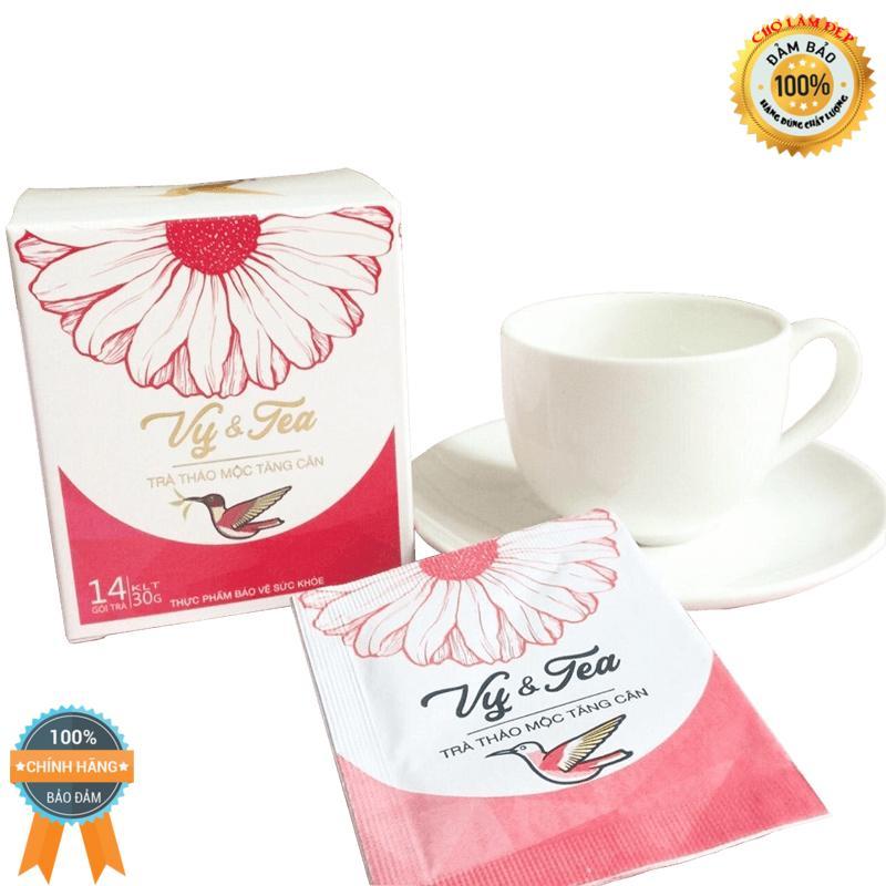 [9 HÃNG] Trà thảo mộc Tăng cân an toàn Vy & Tea (bao text hàng) nhập khẩu