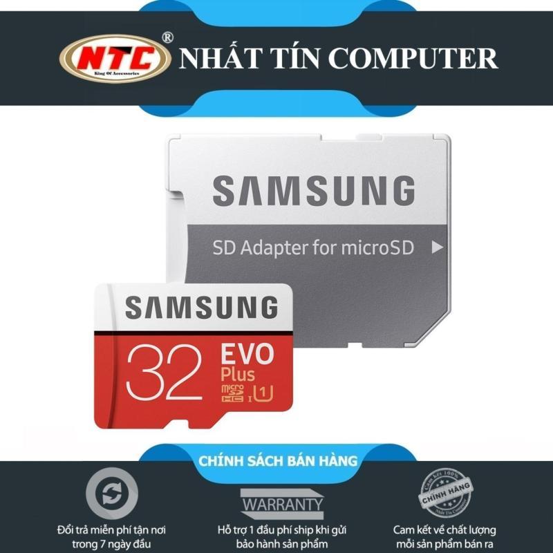 Thẻ nhớ MicroSDHC Samsung EVO Plus 32GB 95MB/s Adapter - box Anh (Màu đỏ)