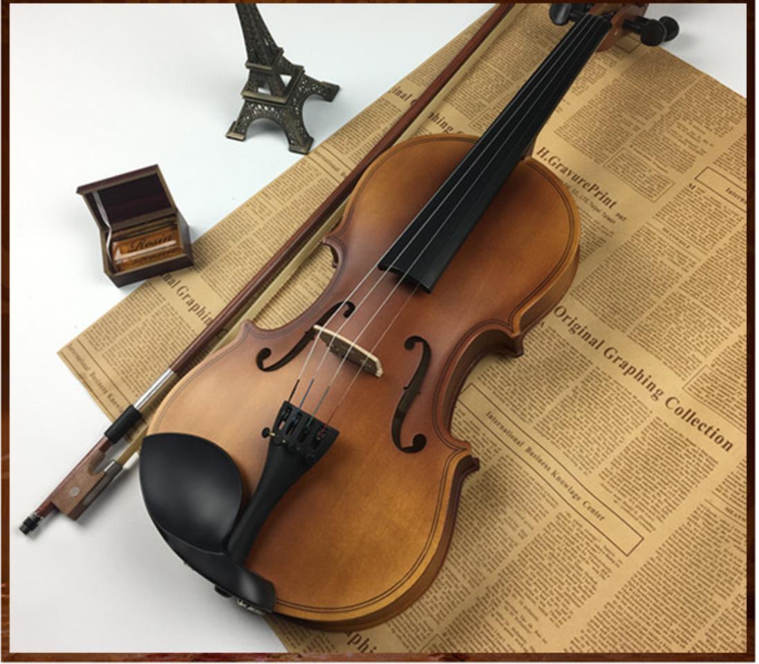 Đàn Violin ( Vĩ Cầm ) Cao Cấp Size 4/4 Gỗ Nhám (full Phụ Kiện ) - HÀNG CÓ SẴN Bất Ngờ Giảm Giá