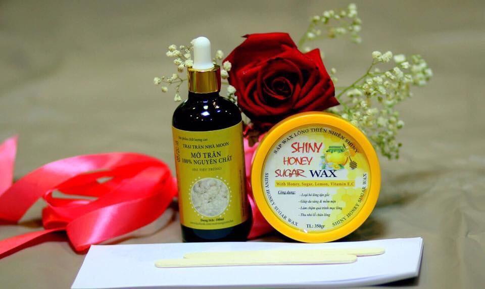 Combo triệt lông wax và mỡ trăn handmade tặng giấy và que wax
