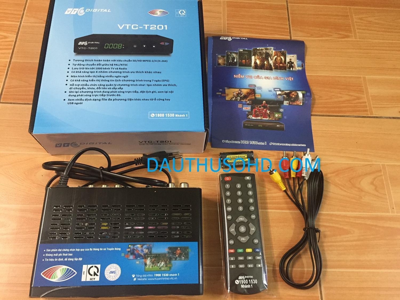 Đầu Thu Truyền Hình Số Mặt đất DVB T2 VTC T201 Đang Trong Dịp Khuyến Mãi