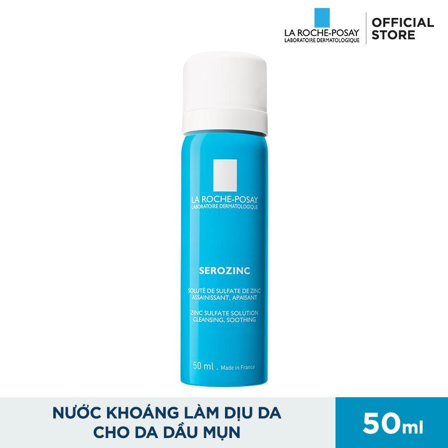 Xịt khoáng giúp kiểm soát bóng nhờn và giảm sưng viêm La Roche Posay Serozinc 50ml