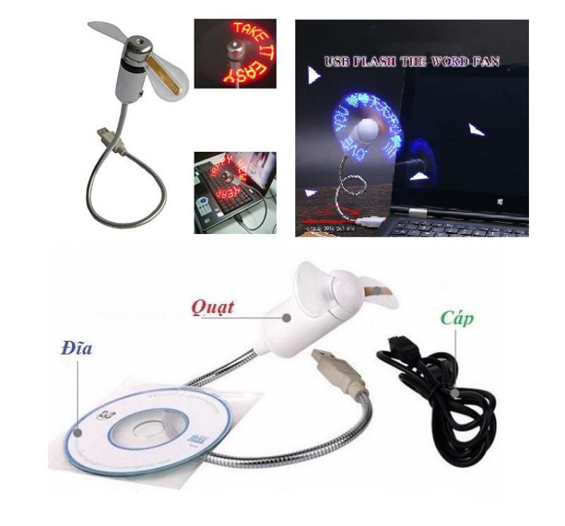 Bảng giá Quạt LED chạy chữ theo thông điệp,tự tạo nội dung và kiểu chữ kèm đĩa CD và cáp sạc.Led Fan tạo kiểu chữ tùy ý Phong Vũ