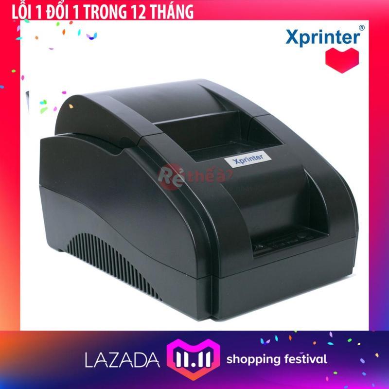 Máy in hóa đơn XPRINTER 58IIH KHỔ GIẤY 58mm - Hàng Nhập Khẩu + Tặng 5 cuộn giấy in nhiệt khổ 58mm