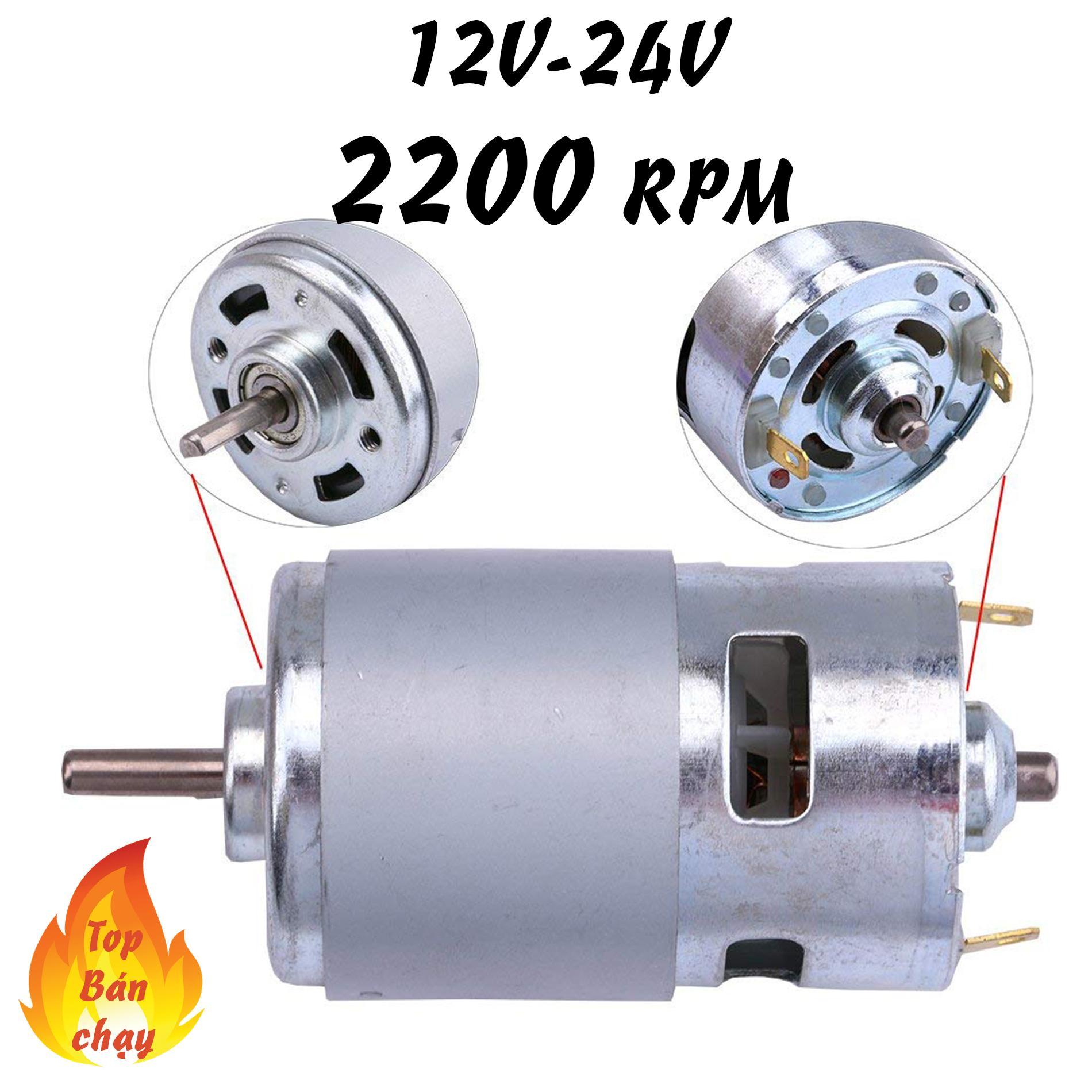 Hình ảnh motor 775 12v tốc độ 2200 vòng - motor siêu bền cho dân diy chuyên nghiệp