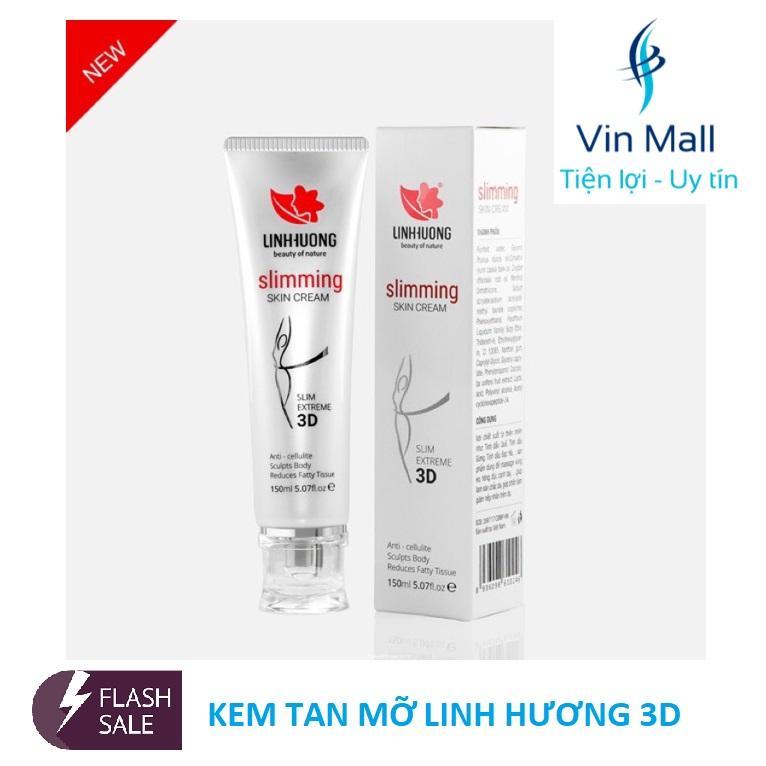 Kem giảm cân tan mỡ 3D Linh Hương - Slimming Skin Cream 3D (Mẫu mới nhất)