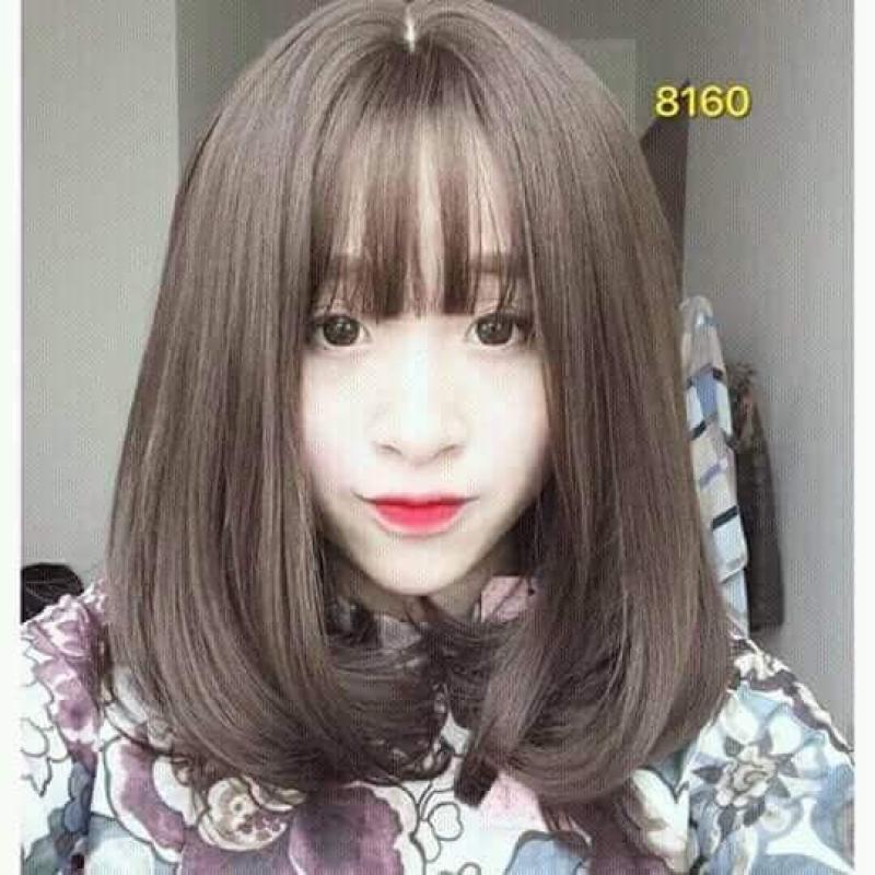 tóc giả vic xoăn ngắn đủ 4 màu đa dạng nhập khẩu