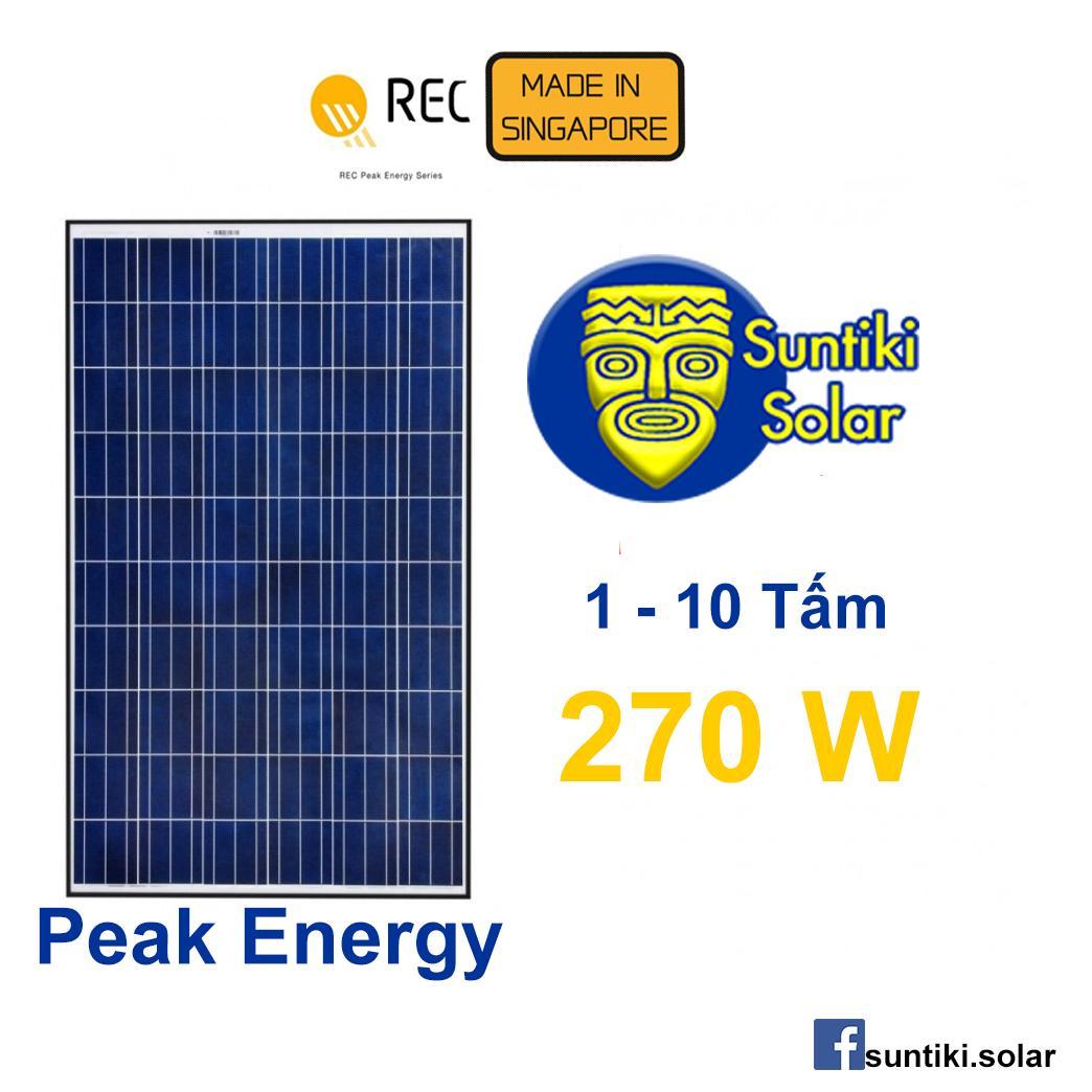 Tấm pin năng lượng mặt trời REC (Solar Panel) 270W (1-10 tấm)