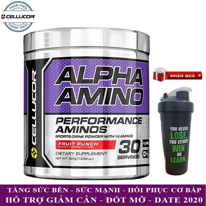 BCAA Alpha Amino của Cellucor hỗ trợ giảm cân đốt mỡ phục hồi cơ liên tục 30 lần dùng - Phân phối chính thức
