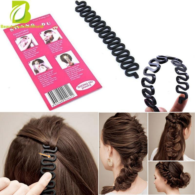 Hình ảnh French Hair Braiding Roller With Magic Twist Styling Bun Maker Bun Former - intl