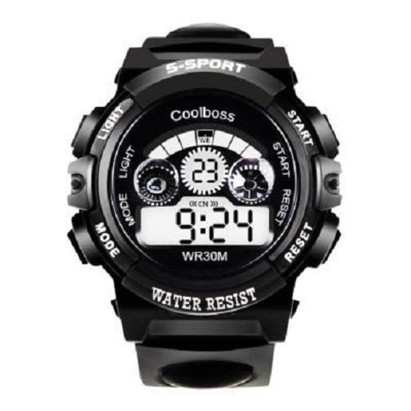 Đồng hồ trẻ em nam chống nước cao cấp Coolboss 0119 tặng thêm 1 pin ( Màu đen) bán chạy