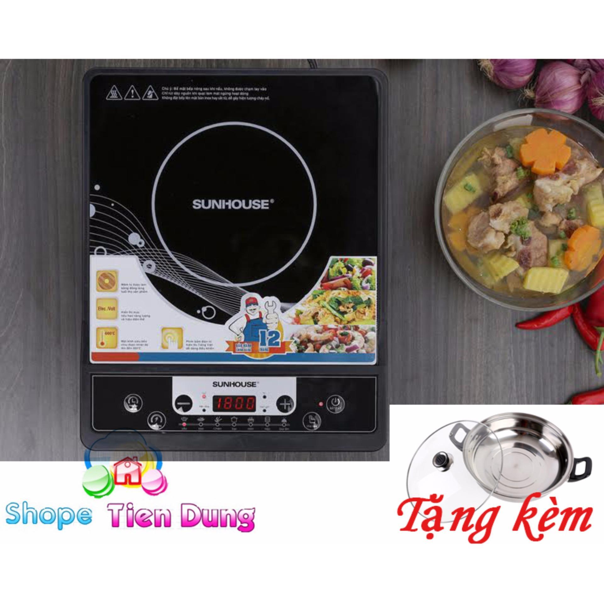 Hình ảnh bếp hồng ngoại nào tốt - Bếp điện từ cơ cao cấp, tiện dụng 1800W, Chất lượng uy tín, BH 1 đổi 1 bởi Shope Tien Dung - TẶNG NỒI LẨU CAO CẤP