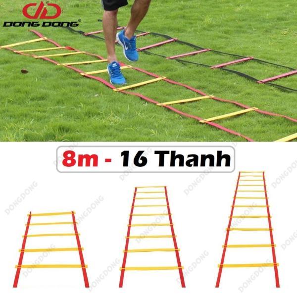 Thang dây thể thao tập luyện thể lực bóng đá 8m 16 thanh, nâng cao sức khỏe, thể lực và tầm vóc - DONGDONG