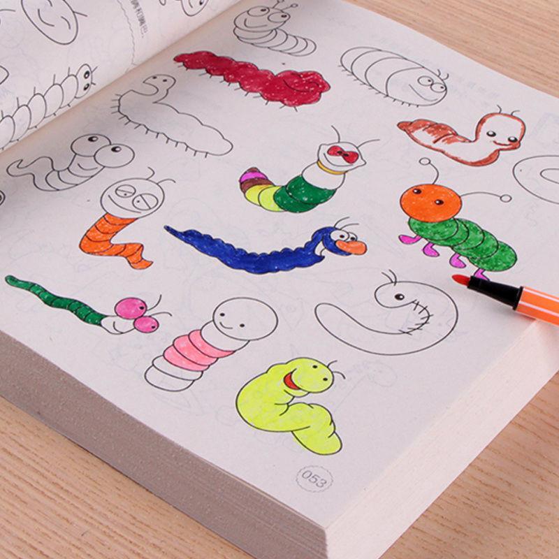Sách Tập Tô 5000 Hình Siêu Dễ Thương + Tặng 12 Cây Bút Màu Cho Bé Thỏa Sức Sáng Tạo Nghệ Thuật Đang Giảm Giá