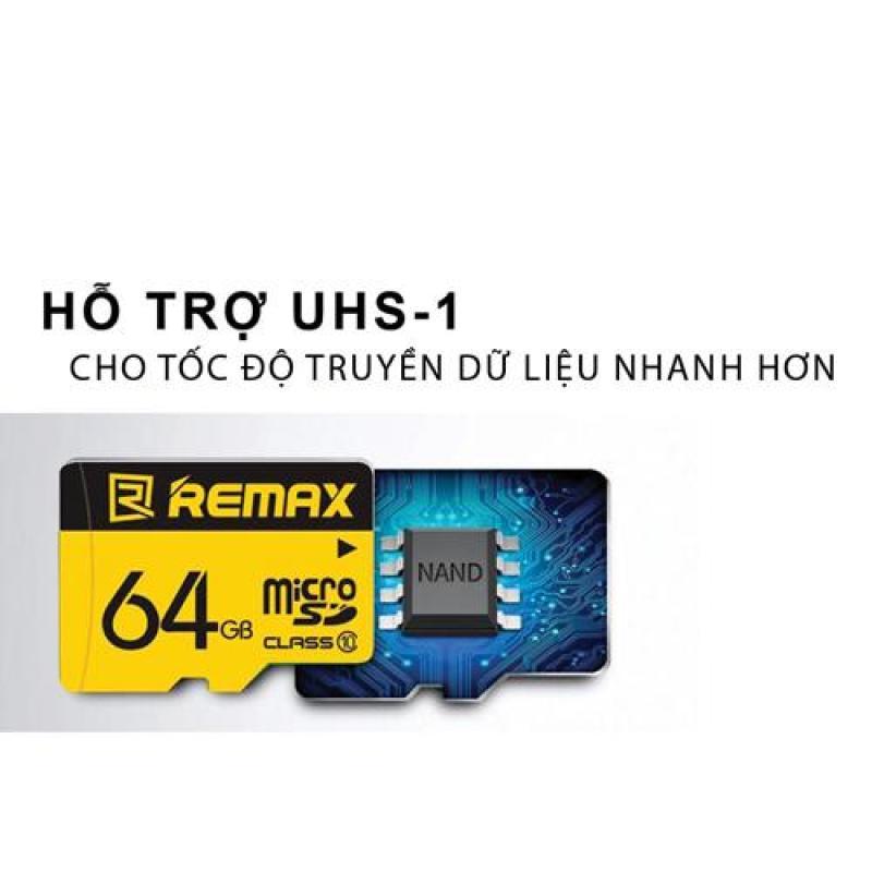 Thẻ nhớ MicroSD Remax 64Gb Class 10 (Vàng)