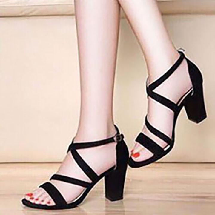Giày cao gót 7cm 2 dây chéo