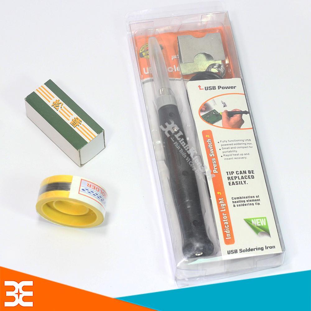 [Tp.HCM] Mỏ Hàn USB 5V-8W Tặng 01 Thiếc Sunchi và 01 Hộp Nhựa Thông