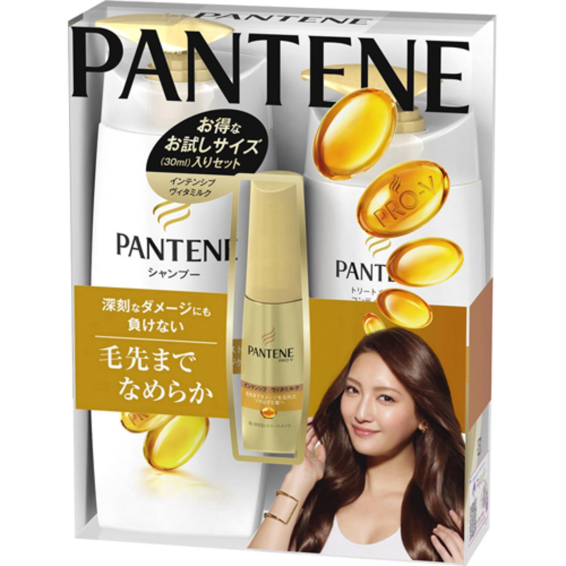 Hình ảnh Bộ 3 chăm sóc tóc hư tổn Pantene Pro-V Vàng - Nội địa Nhật (Dầu gội, xả, tinh chất)