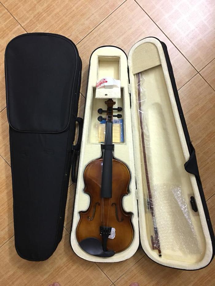 Đàn Violin gỗ cao cấp - Vĩ cầm 4/4 tặng full phụ kiện - HÀNG CÓ SẴN