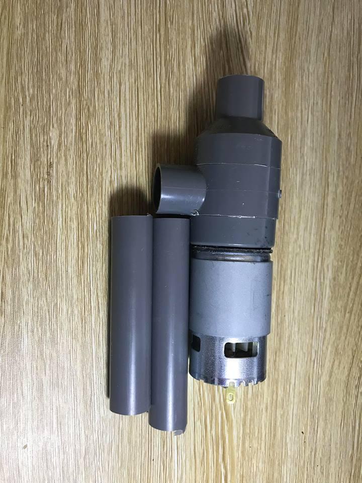 Hình ảnh Bơm nước chế từ motor 775 siêu mạnh