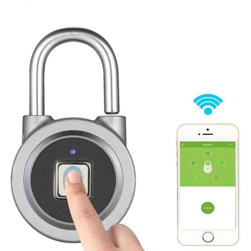 Ổ Khóa Mở Bằng Vân Tay|Khóa Cửa Điện Tử|Ổ Khóa Cửa Vân Tay Bluetooth Thông Minh , Thiết Kế Thép Không Gỉ Cao Cấp, Tiêu Chuẩn IP65 Chống Nước Cao Cấp, Công Nghệ Mở Khóa Vân Tay Bluetooth Hiện Đại