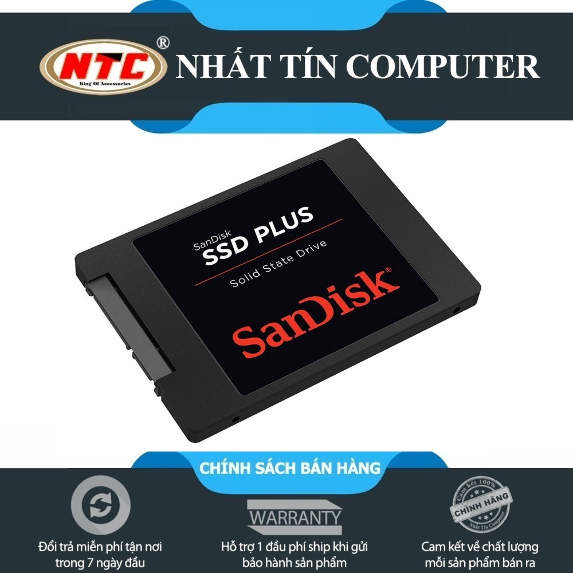 Hình ảnh Ổ cứng SSD Sandisk Plus 240GB (Đen)