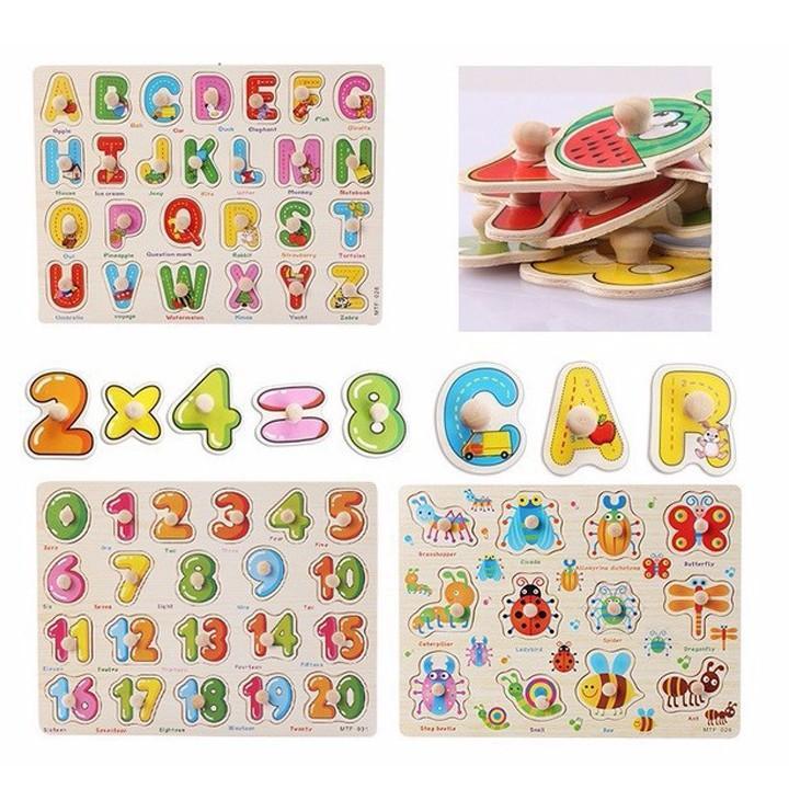 Hình ảnh Combo 3 bảng gỗ ghép hình - đồ chơi tư duy cho bé