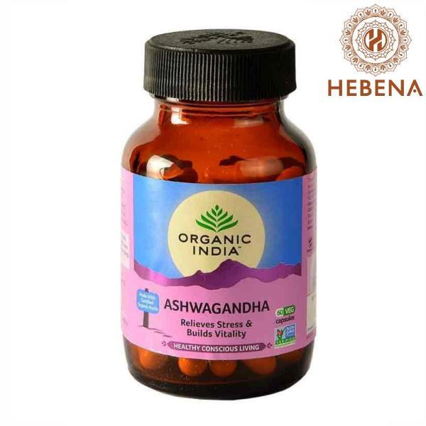 Viên uống nhân sâm Ấn Organic India Ashwagandha - hebenastore giá rẻ