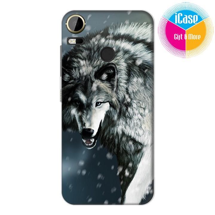 Hình ảnh Ốp lưng nhựa cứng nhám iCase Color dành cho HTC Desire 10 Pro in hình Sói Wolf Mẫu 1