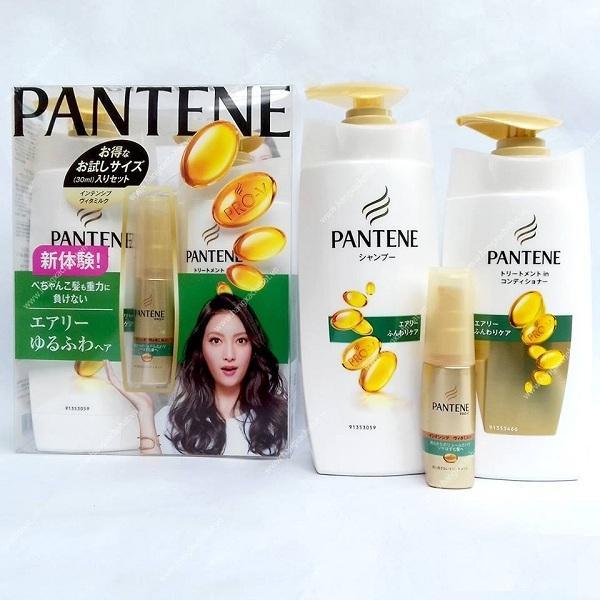 Bộ dầu gội xả Pantene Pro V cho tóc thẳng hàng nội địa Nhật