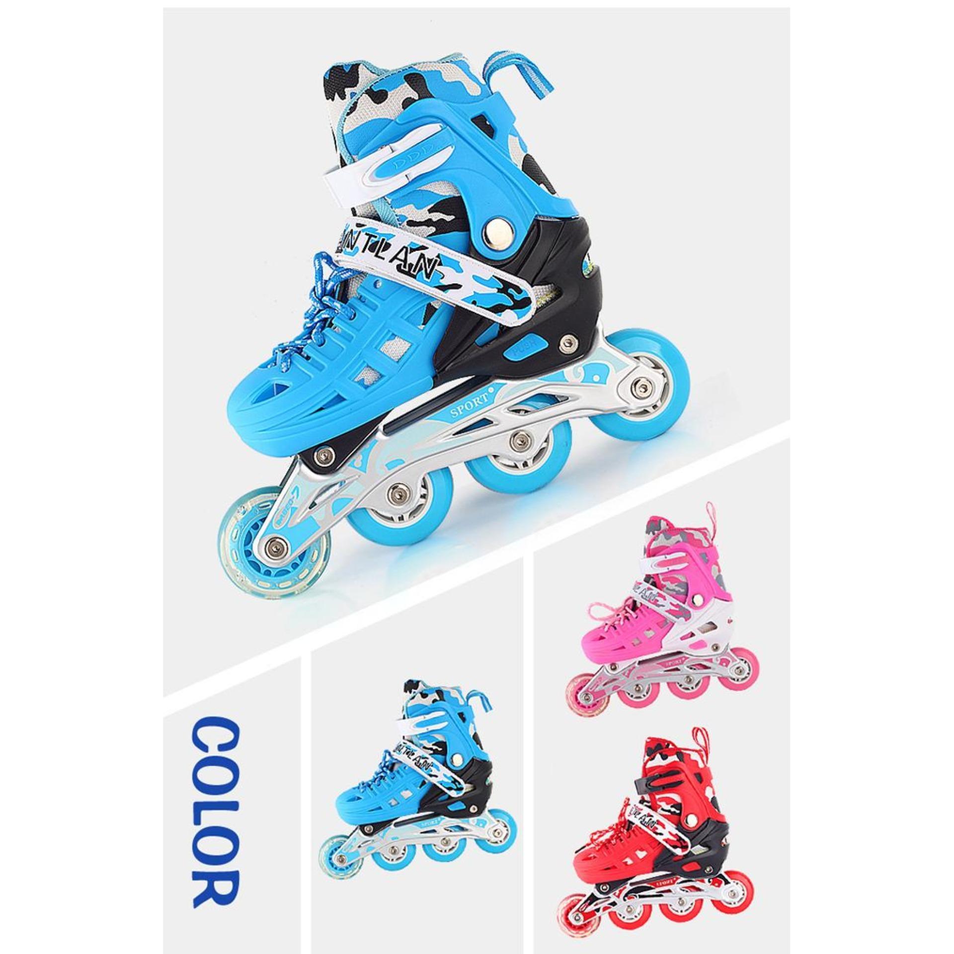 Mua giầy trươt patin,mua trượt patin - Giày Patin Trẻ Em, Chắc Chắn, Ôm Sát Chân Chân,  Giúp Bé Vui Chơi Thỏa Thích Mà Lại An Toàn, Sản Phẩm Cao Cấp -Tặng Kèm Bộ Bảo Hộ Đáng Yêu  - Mẫu Mới 2025