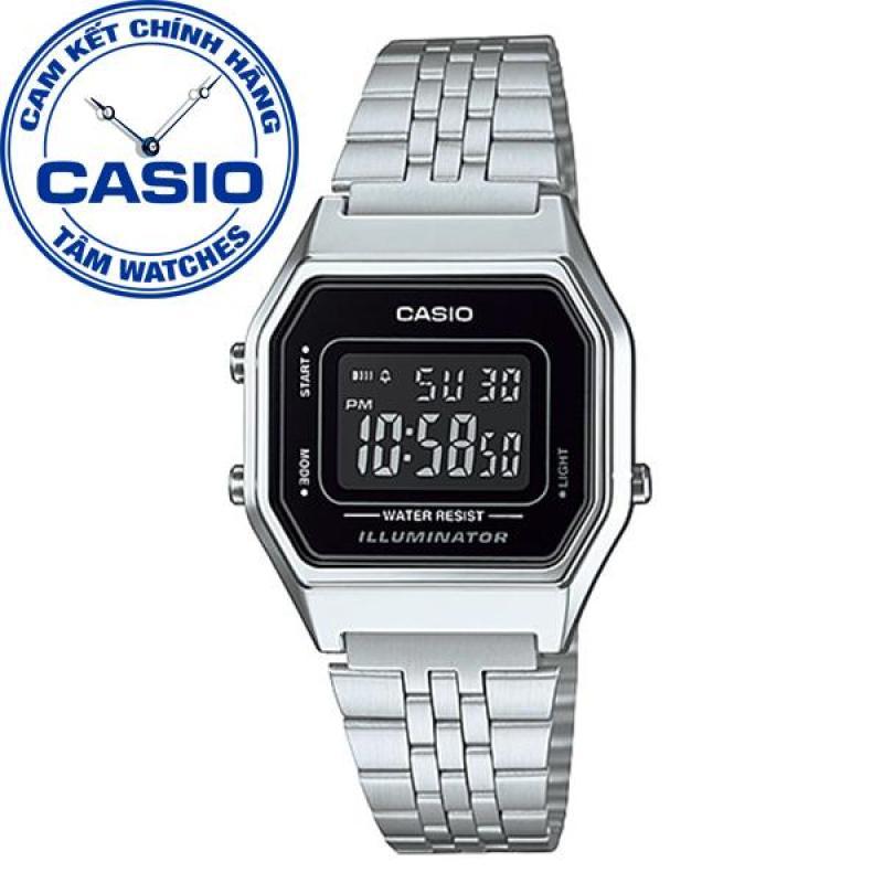 Đồng hồ nữ dây thép không gỉ Casio Standard Anh Khuê LA680WA-1BDF