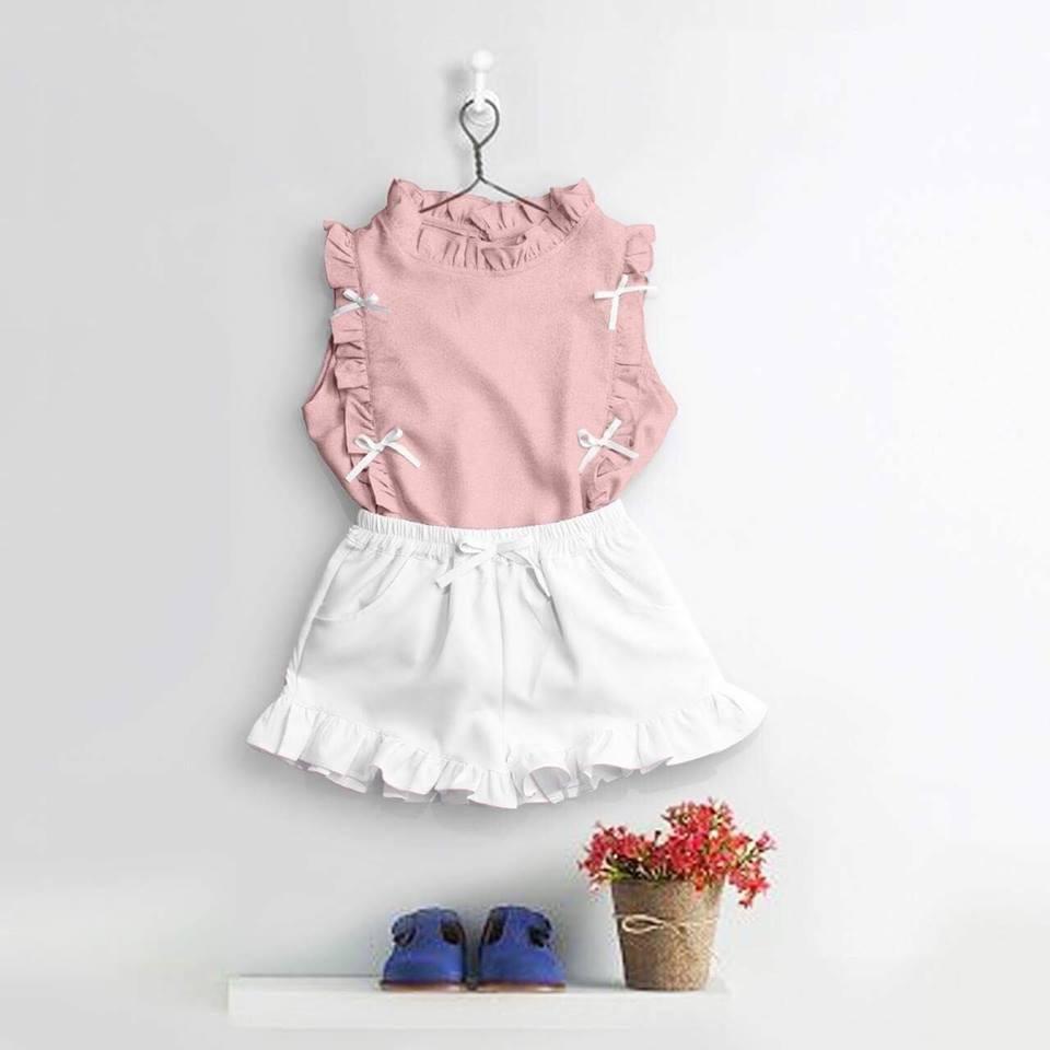 Sét váy áo beo cho bé_size 6 tuổi