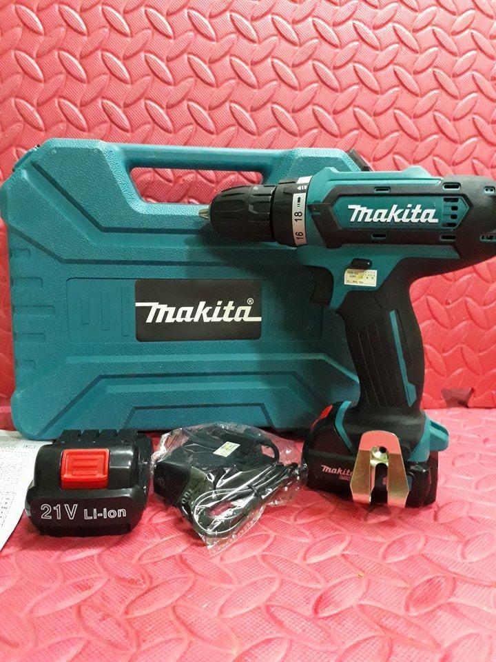 Hình ảnh Máy khoan -bắt vít pin makita21v khoan sắt, gỗ, bê tông-Thái lan, chữ Makita đúc nổi