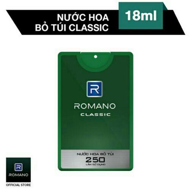 Romano - Nước Hoa Bỏ Túi Classic 18ml - 250 lần xịt